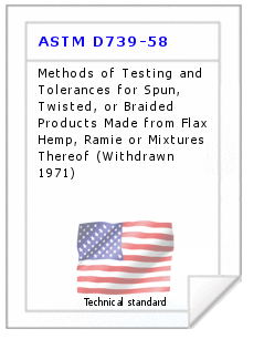 Technical standard ASTM D739-58