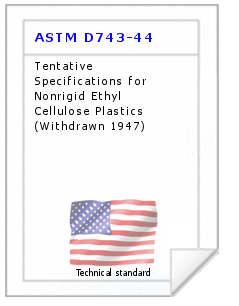 Technical standard ASTM D743-44