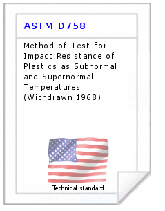 Technical standard ASTM D758
