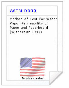 Technical standard ASTM D830