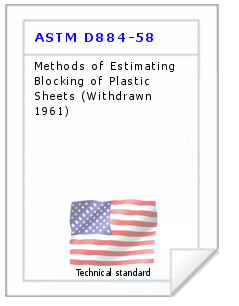 Technical standard ASTM D884-58