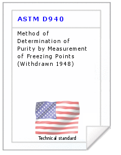 Technical standard ASTM D940