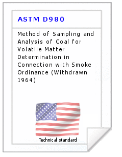 Technical standard ASTM D980