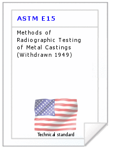 Technical standard ASTM E15