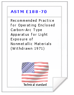 Technical standard ASTM E188-70