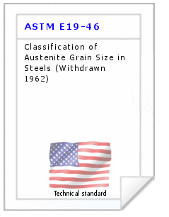 Technical standard ASTM E19-46