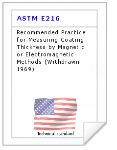 Technical standard ASTM E216