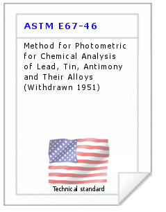 Technical standard ASTM E67-46
