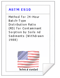 Technical standard ASTM ES10