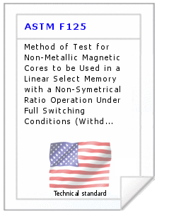 Technical standard ASTM F125