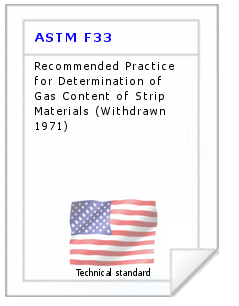 Technical standard ASTM F33