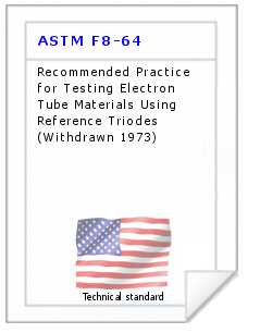 Technical standard ASTM F8-64