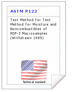 Technical standard ASTM P122