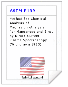 Technical standard ASTM P139