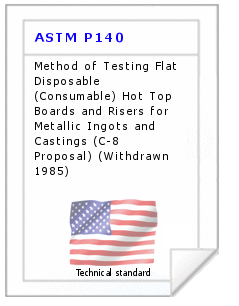 Technical standard ASTM P140