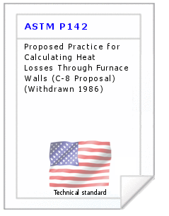 Technical standard ASTM P142
