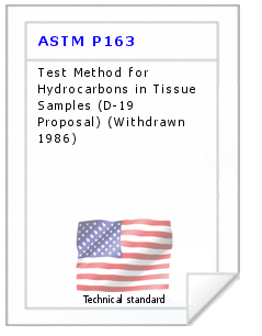 Technical standard ASTM P163