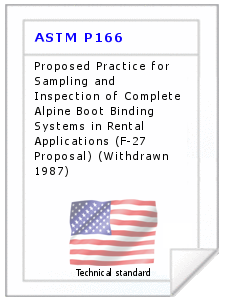 Technical standard ASTM P166