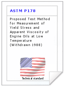 Technical standard ASTM P178