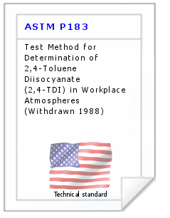 Technical standard ASTM P183