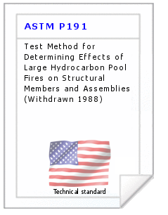 Technical standard ASTM P191