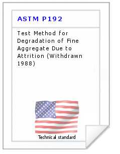 Technical standard ASTM P192
