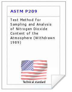 Technical standard ASTM P209