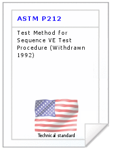 Technical standard ASTM P212