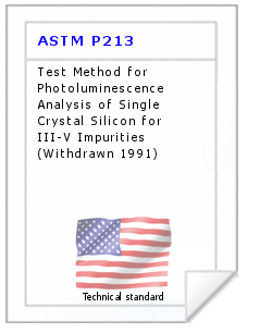 Technical standard ASTM P213