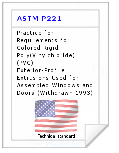 Technical standard ASTM P221