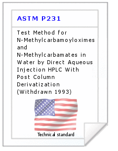 Technical standard ASTM P231