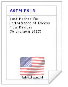 Technical standard ASTM PS13