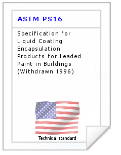 Technical standard ASTM PS16