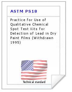 Technical standard ASTM PS18
