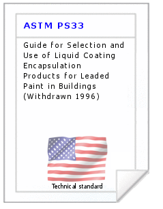 Technical standard ASTM PS33