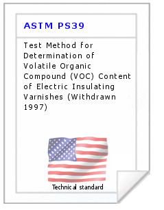 Technical standard ASTM PS39