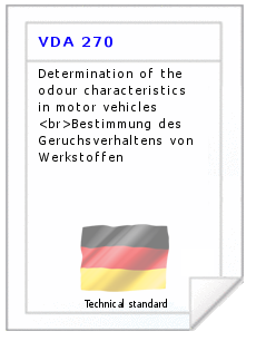 Technical standard VDA 270